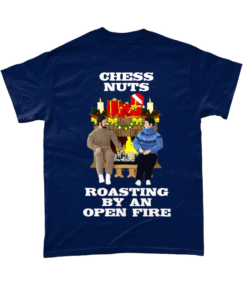 032abac62b Funny Hilarious Christmas T-Shirt Chess Nuts Roasting By An | Etsy