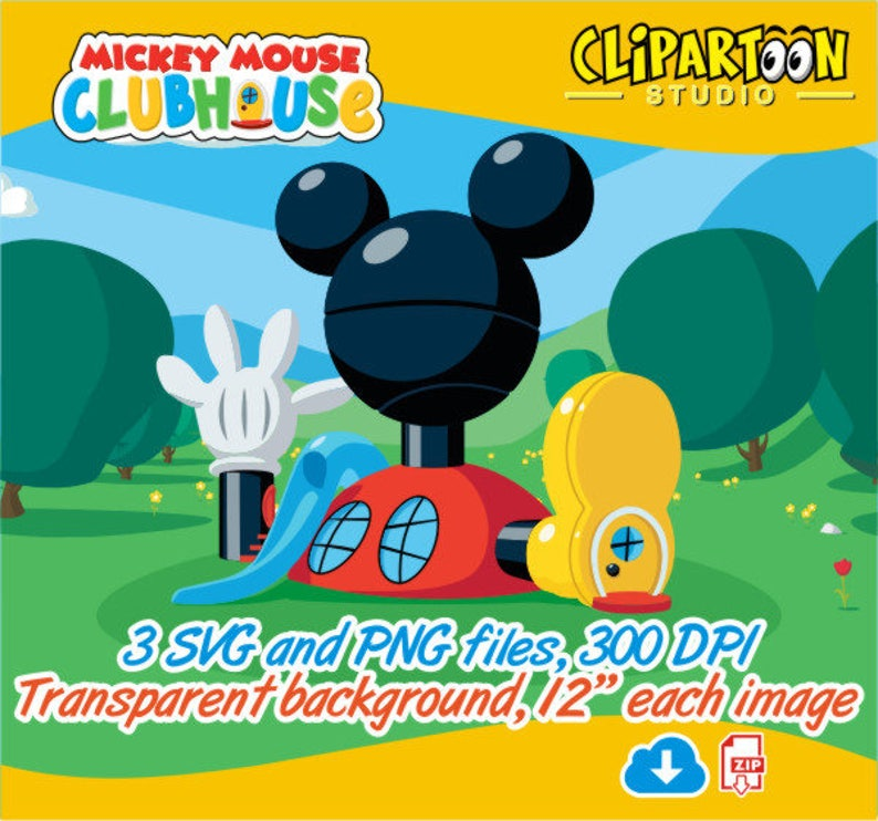 Mickey Mouse Clubhouse background Clipart Mickey Mouse  76f4b5ccf03