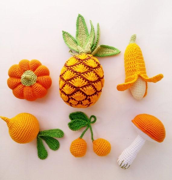 Gehäkelte Jully Obst Und Gemüse 6 Stück Häkeln Sie Obst Etsy