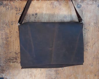 Handmade messenger leather bag laptop bag