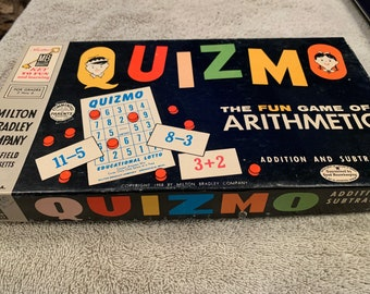 vintage children/'s card game Fun With Numbers math arithmetic educational game cute I Win