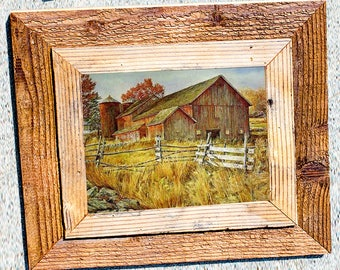 Barnwood Frame 11 x 14, Double Barn Wood, Recycled, RePurposed, Reclaimed, Vintage Farmhouse Frames, Rustic, Primitive, Distressed, Antique!