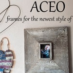 ACEO Frames 3.5 x 2.5 Custom Barnwood Frame, Old Barn Wood, Recycled, RePurposed, UpCycled, Reclaimed Wood, Small Farmhouse Style Wood Frame