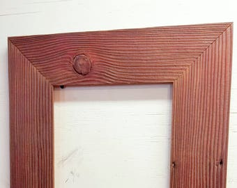 12 x 12 Inch Authentic Barnwood Frame, Old Barn Wood, Recycled, RePurposed, UpCycled, Reclaimed, Vintage Farmhouse Frames Seasoned by Nature