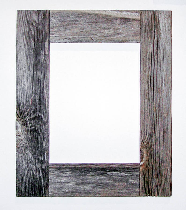 BarnWood Frame 11 x 14 Natural Gray Patina! Recycled RePurposed ReUsed UpCycled Reclaimed Vintage Farmhouse Wood Frames Old Barn Wood
