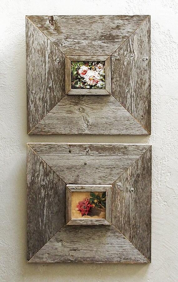 3 x 5 inch Custom Barn Wood Frames Old Barn Wood Recycled | Etsy