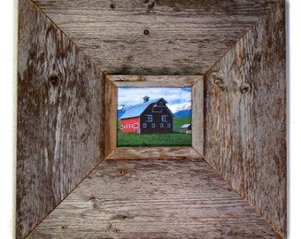 """5 x 7 x 5.5"""" or Custom Size Barn Wood Frame, Authentic RePurposed Barnwood Reclaimed from 100+ Year Old Buildings, Vintage Farmhouse Frames!"""