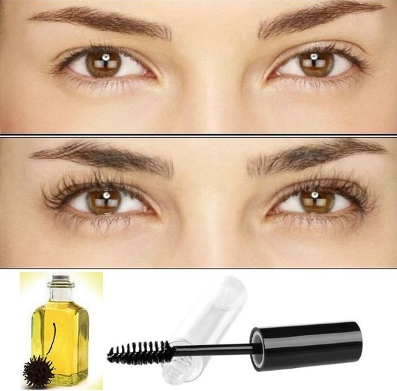 Organic Castor Oil Eyelasheyebrow Enhancer Growth Serum 100 Etsy