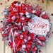 Karissa Leggett reviewed Christmas Holiday BELIEVE Red White Silver mesh wreath with Bow for your front door porch entrance entryway wall hanging home decor