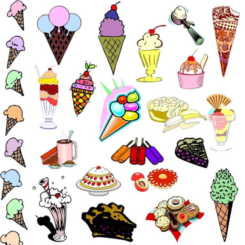Commercial Use Pies Sweets /& Treats Clip Art Clipart Popsicle Dessert Clipart Clip Art Digital Elements Ice Cream