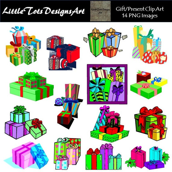 Christmas Gift Clipart.Christmas Gift Clipart Christmas Presents Clipart Holiday Gifts Clipart Personal And Commercial Use Instant Download
