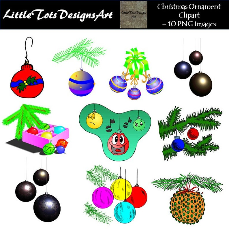 Ornaments Clipart Christmas Clipart Christmas Ornaments Instant Download Digital Clipart Christmas Ornaments Graphics Commercial Use