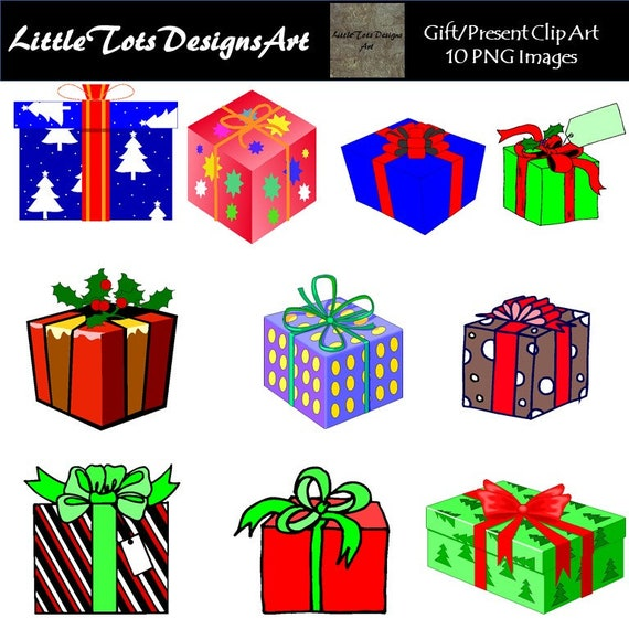 Christmas Gift Clipart.Christmas Gift Clipart Clip Art Digital Clip Art Colorful Gifts Christmas Presents Clipart Commercial Use Instant Download