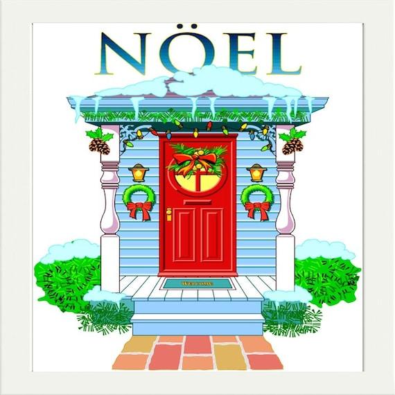 Noel Clipart Clip Art Christmas House Clipart Digital Clip Etsy