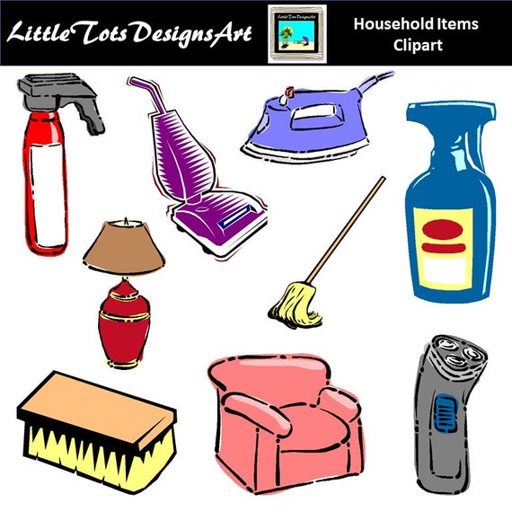 Household Clip Art Clipart House Cleaning Clip Art Clipart Etsy