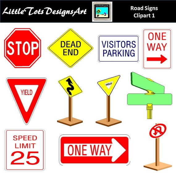 traffic signs clipart traffic clip art road signs clipart etsy