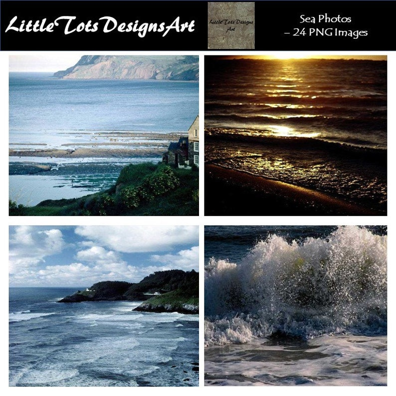 Sea Photos - Sea Photo Set - Horizontal Photo - Set of 24 Photos - Digital  Photo Set - Digital Photo - Digital Download