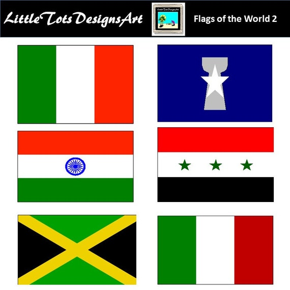 World Flag Clipart Flag Clipart Printable Flags 135 PNG | Etsy