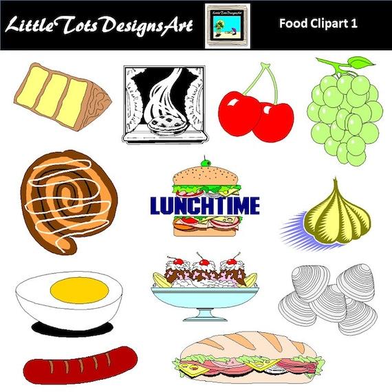Nourriture Clipart Clip Art Dejeuner Dejeuner Diner Clip Art Etsy