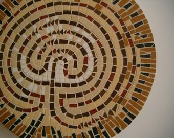 Labyrinth, yellow earth.