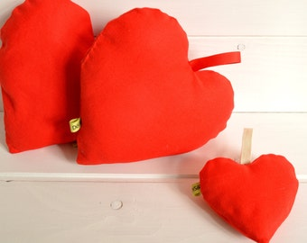 Heart of fabric, heart pillow, heart pincushion, perfume drawers, perfumed linen, gift for her,