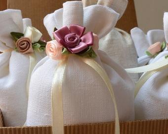 Bag smells linen, mixed linen, linen, wedding favor