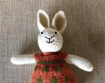Knitted Rabbit Polka Dot Girl