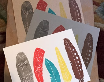 Feathers Flat Note Card