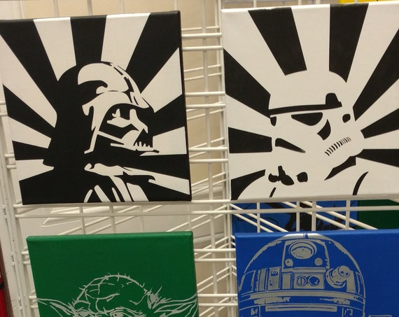 Star Wars Collection - Darth Vader, Stormtrooper, Yoda, C3PO and More!  - Painted by Hand in Acrylic