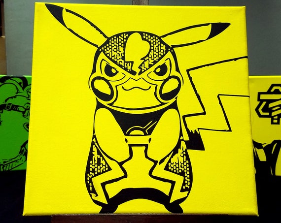 Pokken Canvas Collection - Pika Libre, Machamp, Garchomp, Decidueye, Sceptile, Lucario, Blaziken, Braixen & More! -Painted by Hand Acrylic