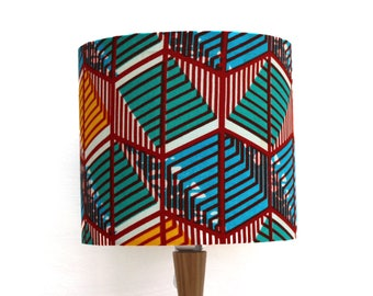 African wax print fabric lampshade handmade green yellow blue etsy african wax print fabric lamp shade 20cm diameter blue red yellow turquoise lampshade made from gtp nustyle ghana africa textiles aloadofball Images