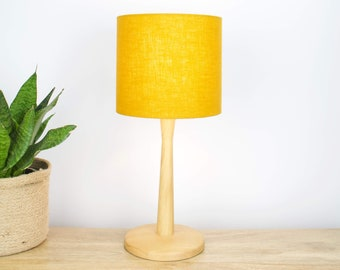 Linen Mustard Yellow Lampshade for Table Lamp or Ceiling Light Shade, Mustard Yellow Decor