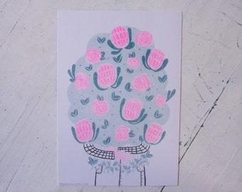 The Florist - Risograph Art Print