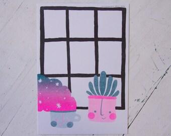 Magic Coffee - Risograph Art Print