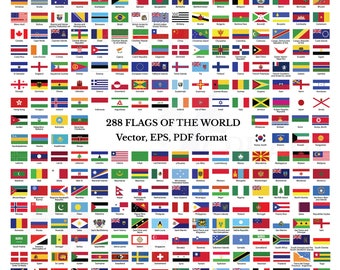 graphic relating to Flags of the World Printable Pdf titled Flags of the international Etsy