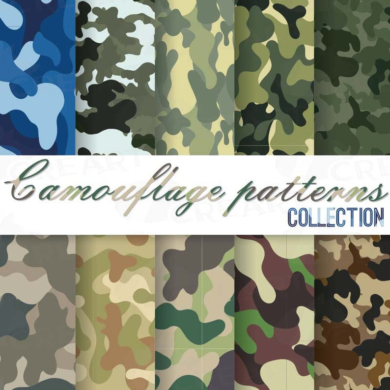 a4dcf2a2af Camouflage patterns Military camouflage digital papers