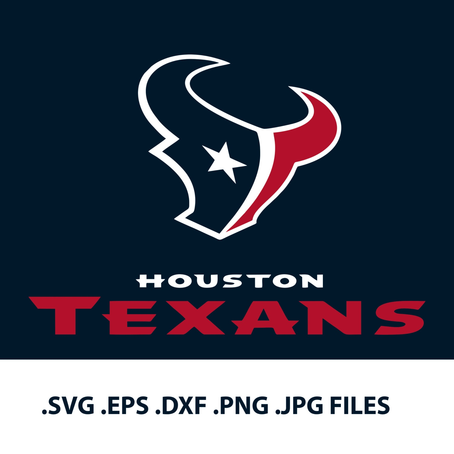 houston texans logo svg vector design svg eps dxf png etsy rh etsy com Houston Texans Logo Clip Art texans nfl logo vector