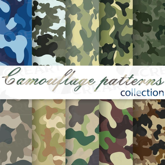 Army Pattern Design Camouflage Digital Paper Cute Scrapbook Camouflage Texture Seamless Pattern Camo Digital Paper Military Background