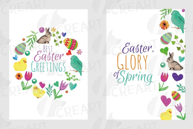 picture about Happy Easter Cards Printable identify Easter greeting playing cards, 6 Pleased Easter playing cards, vibrant playing cards, Printable Easter stickers, watercolor clear PNG and vectors