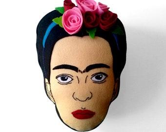 Frida Kalho, Handmade felt cushion