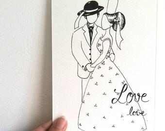 Carte, faire-part, mariage,