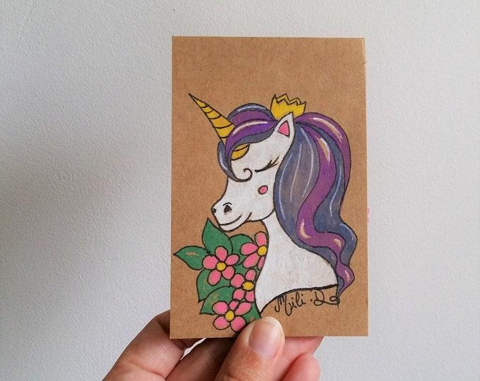 """Featured listing image: Mini Bloc-notes  """"licorne"""""""
