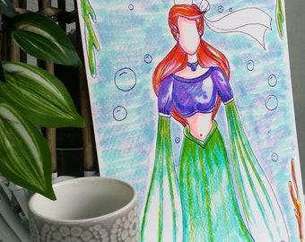 "Aquarelle ""Morgane Bigouden de l'Océan"""