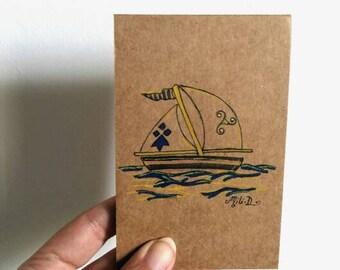 Mini bloc-note Petit bateau