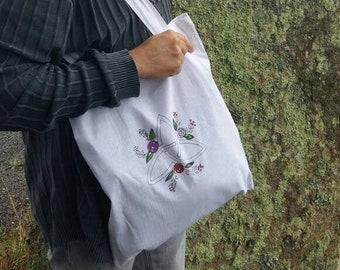 """Sac en coton """"Triskel fleuri"""""""