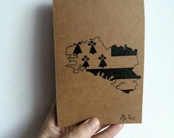 Notepad, llama, llama, ermine, cactus, llama stationery, notebook, birthday present, christmas gift, milid