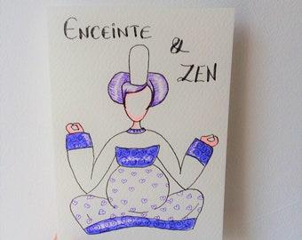 "Carte ""Enceinte et Zen"""