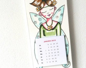 2019 wall calendar, unique calendar, green fairy, fairy calendar