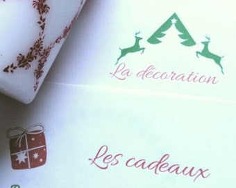 "Box Mili d ""Let's get ready for Christmas"", gift, stationery box, Christmas box, box surprise"