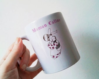 mug mum, young mom, brittany, breton dishes, gift for her, valentine gift